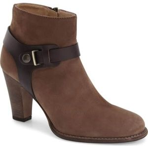 Aquatalia Tara Espresso Numbuk Leather Bootie